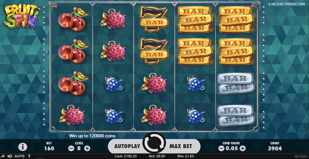 Fruit spins spelautomater 6000