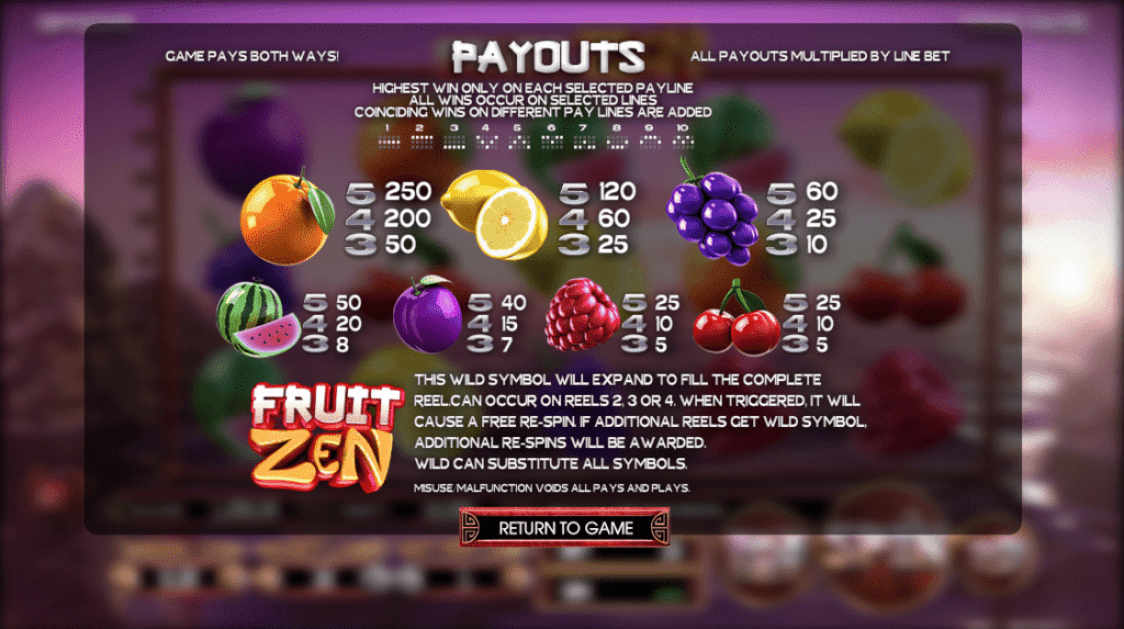 Free spins Fruits 53164